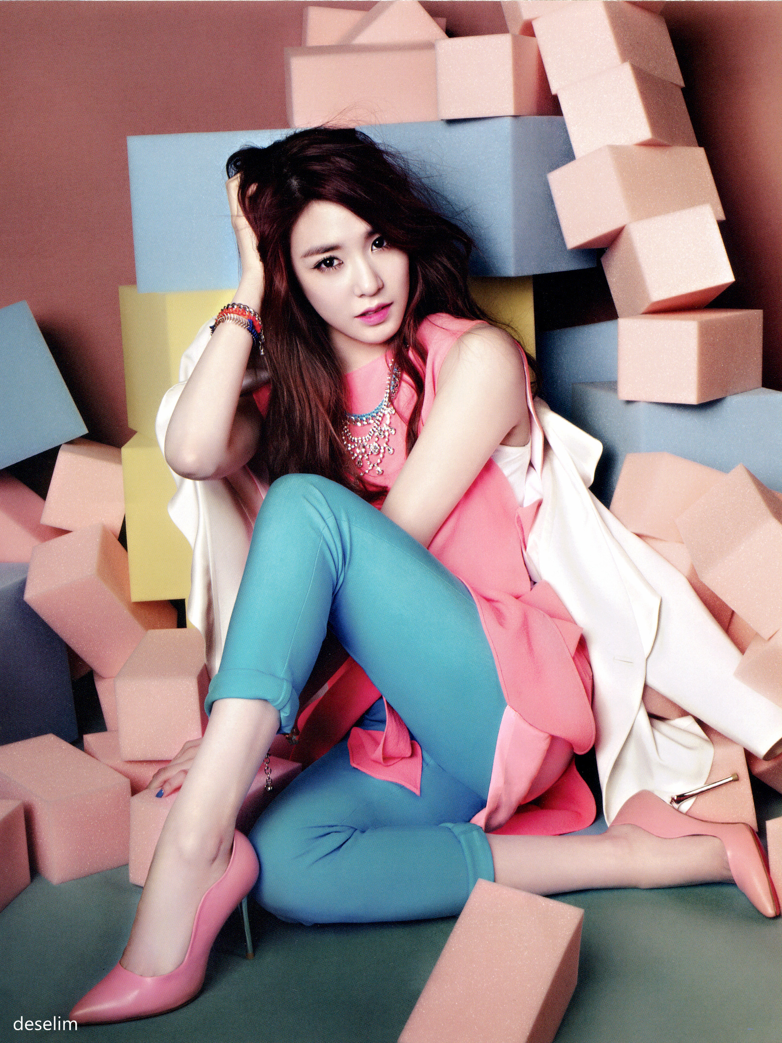 Tiffany Takes Part in 'Pink Wings' Campaign for 'Vogue Girl'