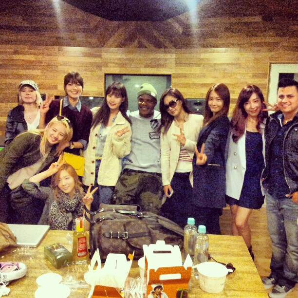 SNSD with Ricky Luna and Sean Garret!