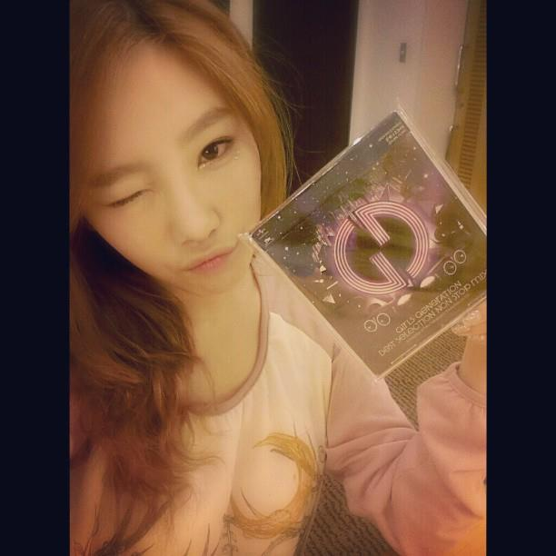 Girls' Generation's Taeyeon poses cutely with
