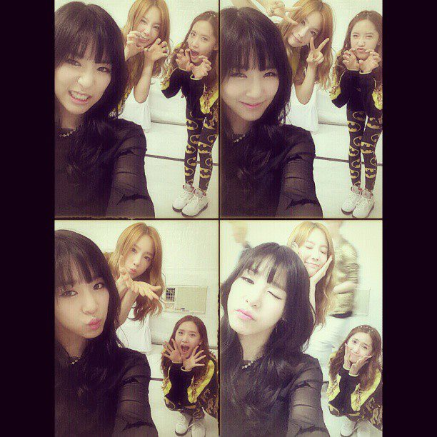 Taeyeon's adorable set of photos with Tiffany and Yoona!