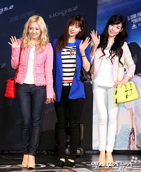 Hyoyeon, Seohyun and Tiffany at the Premiere of 'G.I. Joe 2'