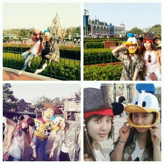 SNSD's Seohyun and Yuri had a fun date at Tokyo Disneyland!