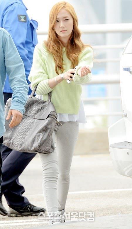 Jessica and her photos from her departure for Hong Kong!
