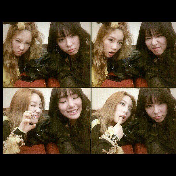 SNSD Taeyeon and Tiffany's adorable set of photos!