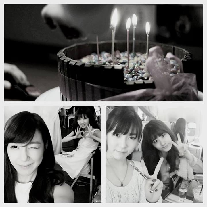 Girls`Generation's Tiffany and Seohyun Took a Photo Together With a Cake!