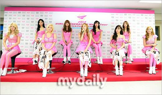 "SNSD Attended a Press Conference for the ""Girls & Peace - 2013 Girls' Generation World Tour!"
