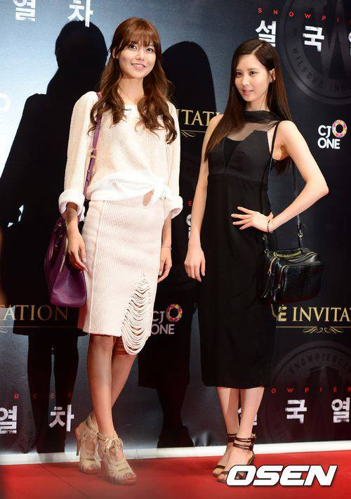 Girls`Generation's Sooyoung & Seohyun at 'Snow County Train' VIP Premiere