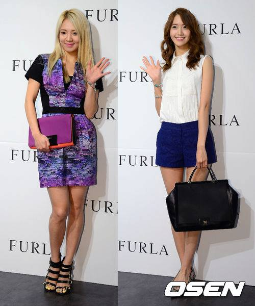 Girls`Generation's Yoona and Hyoyeon at FURLA 2013 FW Event!