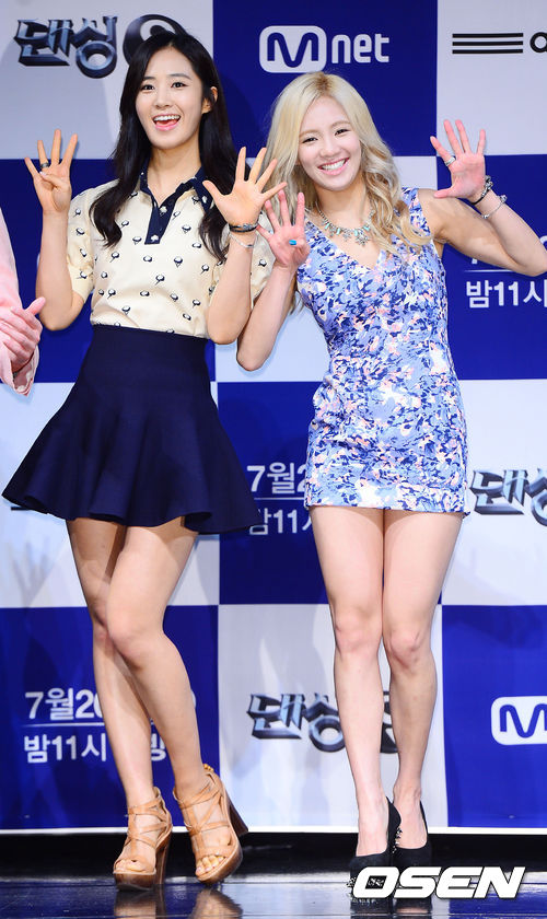 Girls`Generation's Yuri and Hyoyeon at Dancing9's Press Conference!