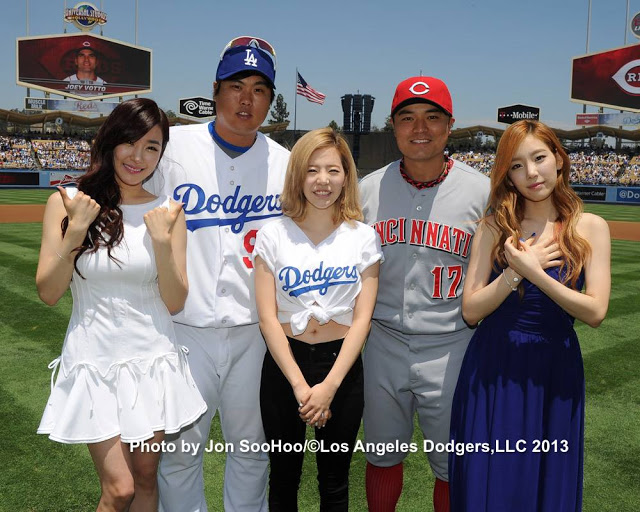 Taeyeon, Tiffany and Sunny at Dodgers Game and 'Korea Day' in Los Angeles!