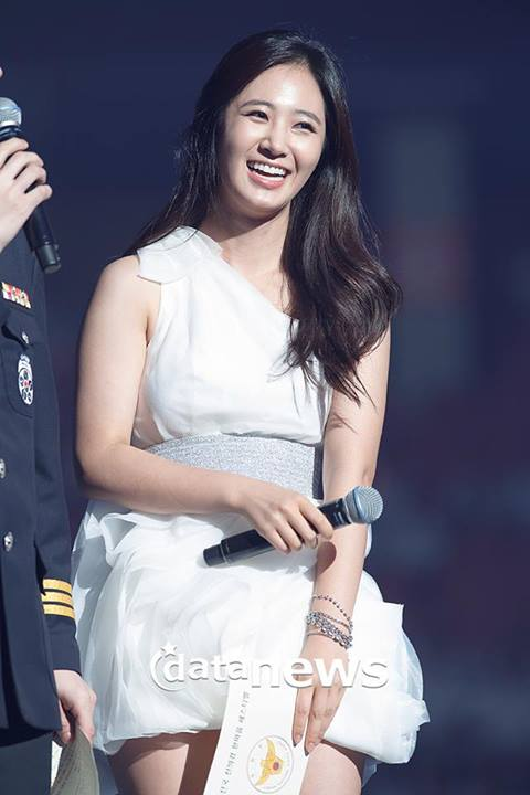 Girls`Generation's Yuri as MC at National Auxiliary Police Unison Festival!