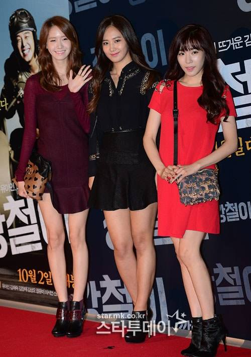 Girls`Generation's Yuri, Tiffany and Yoona at 'Tough As Iron' VIP Premiere!