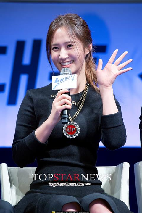 Girls`Generation's Yuri at the Press Conference of 'No Breathing'