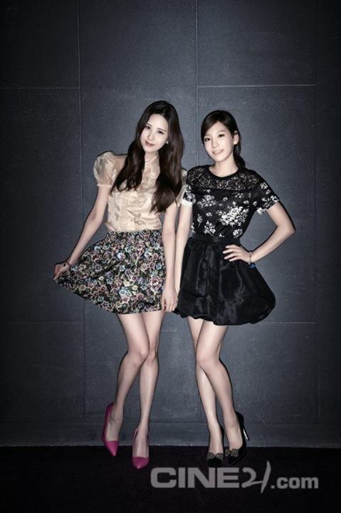 Taeyeon and Seohyun at 'Despicable Me 2′ in Interview with Cine21!