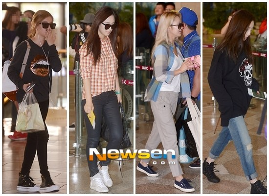 Girls`Generation Photos at Gimpo Airport Going to Japan for an Event!