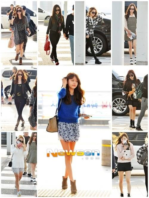 Girls`Generation at Airport Going to Singapore for their 2013 World Tour 'Girls & Peace' Concert!