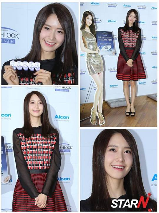Girls`Generation's Yoona at Alcon Freshlook Illuminate Launching Event!