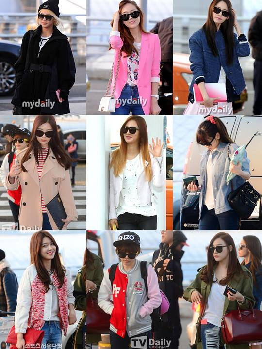 Girls`Generation at Airport Going to Vietnam for '2014 HEC KOREA Festival'