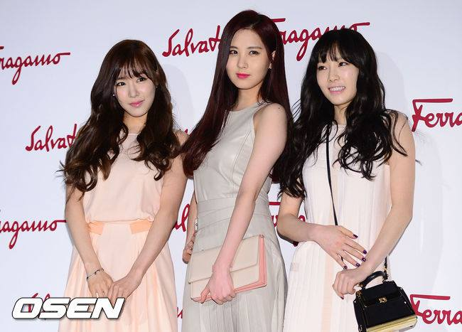 Girls`Generation's Taeyeon, Tiffany and Seohyun at Salvatore Ferragamo's Event!