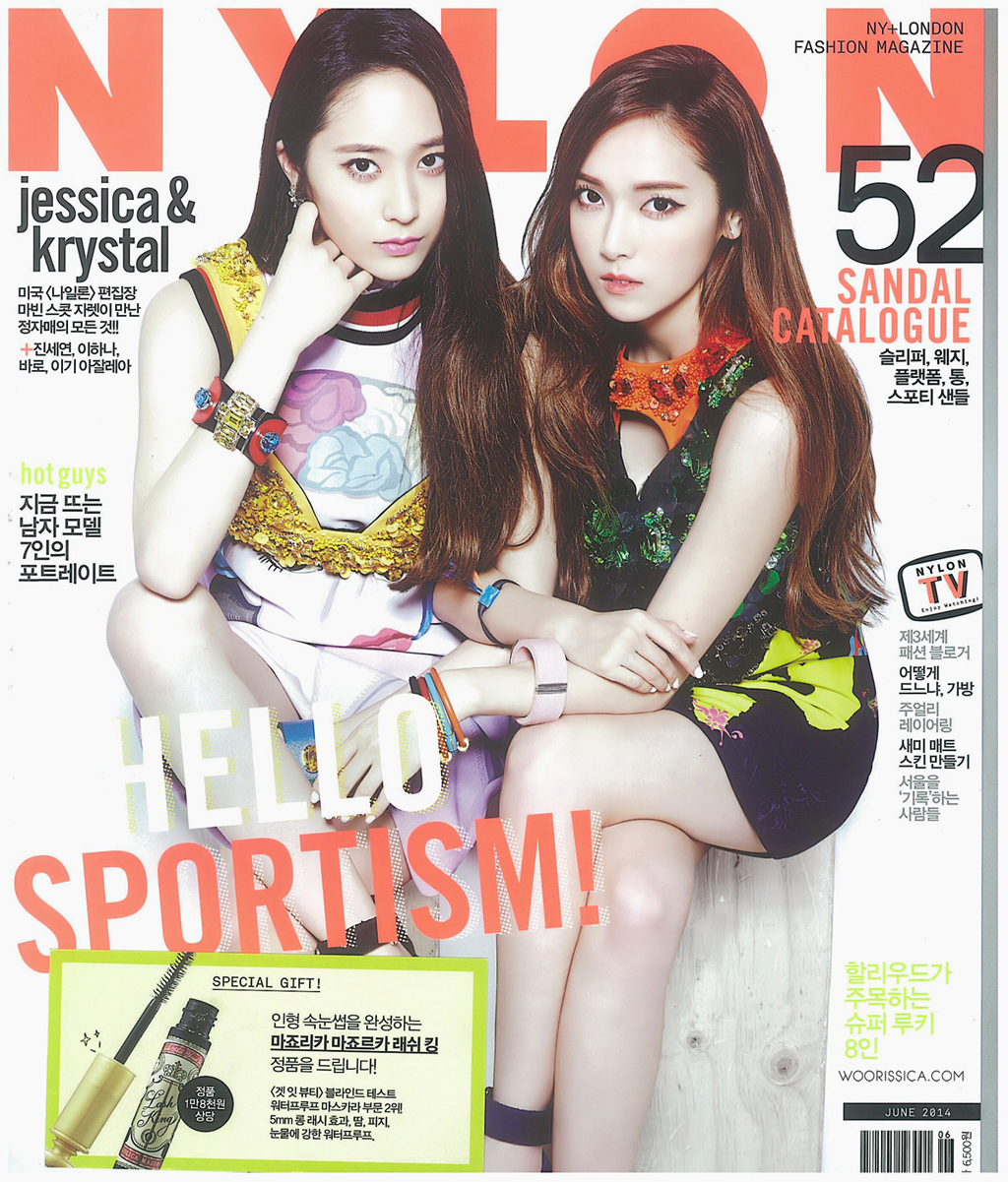 Girls`Generation's Jessica and f(x)'s Krystal for Nylon Magazine's June Issue!