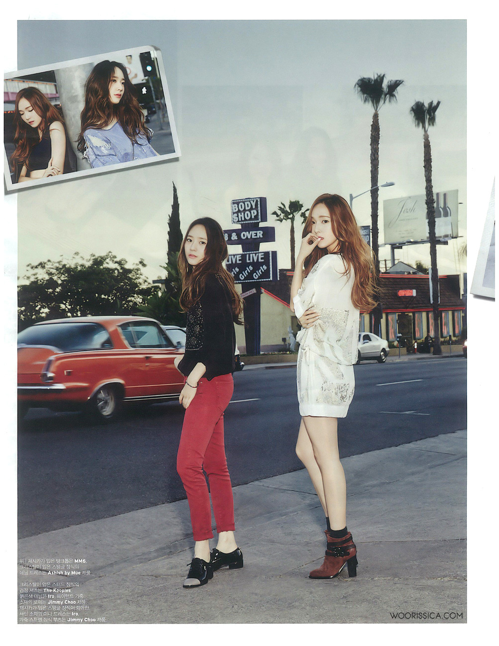 Girls`Generation's Jessica & f(x)'s Krystal for W Korea June Issue!